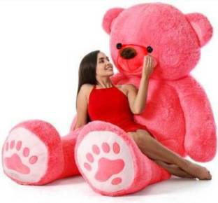 CRAZY DIPS Pink Teddy Bear 3 feet Stuffed Animals Plush Toy Doll for Girlfriend Children Pink (90 cm) - RED - 90 cm (Red)  - 92 cm
