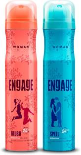 ENGAGE Blush and Spell Deodorant Spray - For Women, Pack of 2 Deodorant Spray  -  For Women