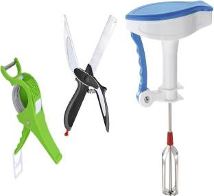 Sampoorna Smart Kitchen Vegetable Tools Combo offer Bhindi Cutter, Cleaver Cutter for Chooping the Veg...