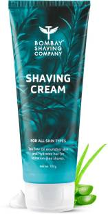 BOMBAY SHAVING COMPANY Shaving Cream with Tea Tree oil, Aloe Vera & Menthol Extracts (100g) | Rich, Creamy & Moisturizing | Made in India