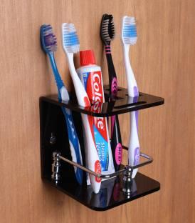 Spiry Acrylic Toothbrush Holder-Toothpaste Holder-Storage Acrylic, Stainless Steel Toothbrush Holder