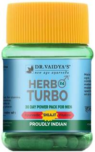 Dr. Vaidya's Herbo-24-Turbo Capsules Power Pack for Men - Ayurvedic Shilajit Vitalizer - Pack of 1