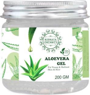 Nirmaya Organics Nourishing And Moisturizing Pure Aloe Vera Gel for Hair, Face and Skin 200gm
