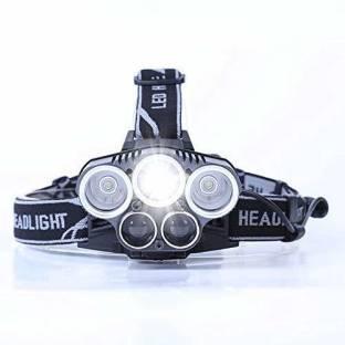 SEASPIRIT 5 LED Super Bright Waterproof High Power Headlamp 6 Modes Flashlight Headlamp, USB Rechargea...