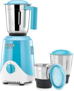 USHA Spin Pro SN500 MX3 500 W Mixer Grinder (3 Jars, Multicolor)