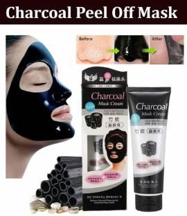 Elecsera Charcoal Purifying Cleansing Black Peel Off Mask Anti-Blackhead Suction Mask Cream - 130g (130 ml)