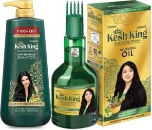 Kesh King Shampoo (600ML) And Hair Oil (120ML)