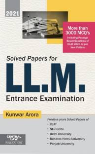 Solved Papers for LL.M. Entrance Examination