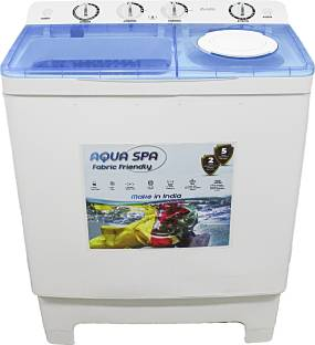 Dvizio 8.5 kg Aqua Spa Fabric Friendly Wash Technology Semi Automatic Top Load White, Blue