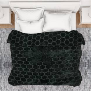 SPANGLE Self Design Double AC Blanket