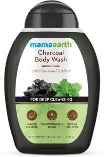 MamaEarth Charcoal Body Wash With Charcoal & Mint for Deep Cleansing – 300 ml