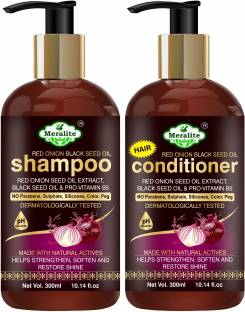 Meralite Red Onion Black Seed Oil Shampoo+Conditioner