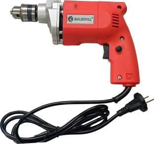 BUILDSKILL 10MM Professional Powerful Heavy Drill Machine BED1100_Red Pistol Grip Drill