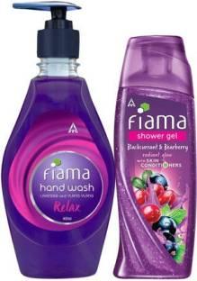 Fiama Blackcurrant & Bearberry Shower Gel 250ml with Relax Moisturising hand wash 400ml
