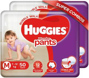Huggies Wonder Pants Combo Pack with Bubble Bed Technology - M