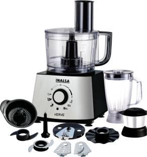 Inalsa Verve 800W Food Processor with 100% Pure Copper Motor  2 Multipurpose Jars & 11 Accessories 800...