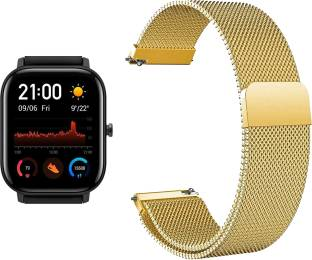 ACM Watch Strap Magnetic Loop 20mm for Amazfit Huami Gts A1914 ( Smartwatch Luxury Metal Chain Band Champagne Gold) WSM4M20GL1303 Smart Watch Strap