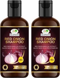 GULBADAN Red Onion Hair Fall Shampoo for Hair Growth & Hair Fall Control, with Red Onion & Black Seed for Men, Women