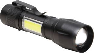 Care 4 CLIP FLASHLIGHT TORCH 3 Modes With COB, USB Charging with a green box case with a CLIP(911) Tor...