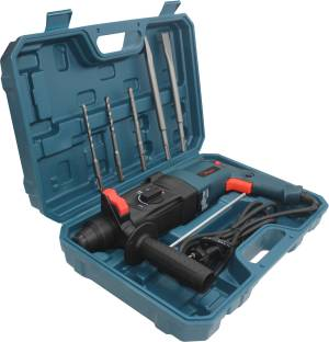 Hillgrove H26H4 All Purpose 26mm Hammer Impact Drill Machine Forward/Reverse Rotaion with 5 Bits for M...
