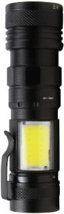 Care 4 ZOOMABLE FLASHLIGHT TORCH ZY-1801 USB CHARGING 4 MODES WITH COB WITH CLIP GREEN BOX Torch