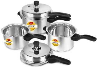 Pigeon Special Combi Pack 2 L, 3 L, 5 L Induction Bottom Pressure Cooker & Pressure Pan