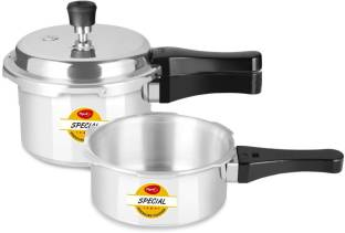 Pigeon Special Combi Pack 2 L, 3 L Induction Bottom Pressure Cooker