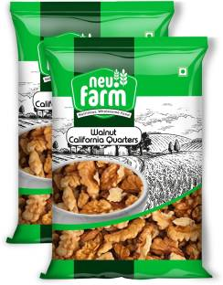 Neu.Farm Walnut/Akharot - Kernels - California - Quarters - 4 Pieces - Premium Quality (2 x 250g) Walnuts