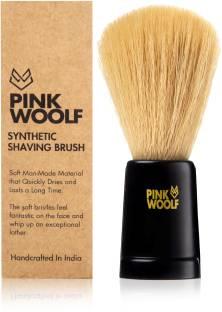 Pink Woolf Synthetic Bristle  (Soft Bristles) Shaving Brush