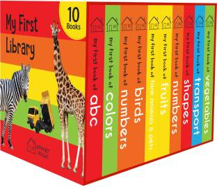 My First Library: Boxset of 10 Board Books for Kids By Miss & Chief