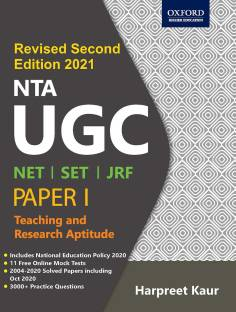 NTA UGC NET/SET/JRF Teaching and Research Aptitude (Paper I) Second Edition