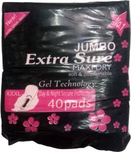 Extra Sure Sanitary Pad Jumbo XXXL Full Size Pack of 40 Sanitary Pad