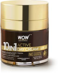 WOW SKIN SCIENCE 10 in 1 Active Miracle Face Cream with SPF 15 PA++ and Infused Shea & Cocoa Butter ,Hydrolysed Collagen,Vitamin E, C & B5