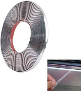 Love Me chrome For car Interior Decorating and Styling Strips (10 mm 5 meter) Car Beading Roll For Grill and Garnish Cover, Bumper, Window, Door, Hood, Trunk, Window Sill