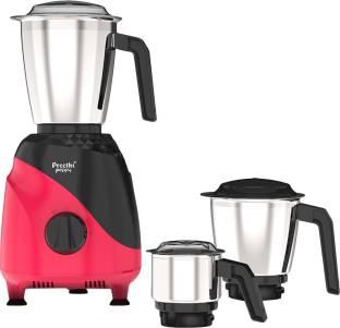 Preethi Peppy MG 245 750 W Mixer Grinder (3 Jars, Black & Red)