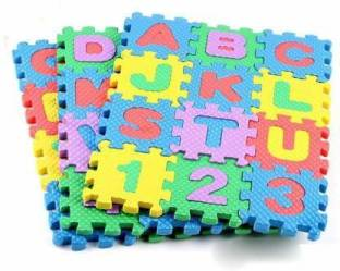 MON N MOL TOY 36Pcs Alphabet Numeral Foam Mat Education Toys Developmental Intelligence Toy for Kids Puzzle