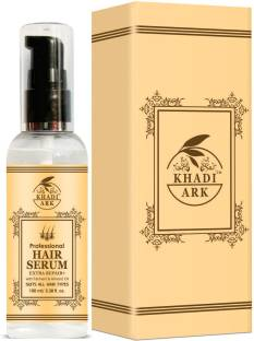 Khadi Ark Professional Hair Serum (Extra Repair) Enriched with Ferment and Almond Oil For Silky Smooth Hair, Tangle Free and Frizz Free Hairs