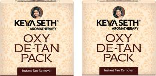KEYA SETH AROMATHERAPY Oxy De Tan Removal for Glowing&Lighting oil Control, Anti Acne&Pimples Blemishes Pigmentation De Tan pack for Face&Body-No Ammonia & Blech.