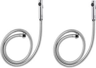 Prestige Premium quality Snowbell health faucet with 1.5mtr flexible PVC Tube and Wall Hook - Set of 2 Faucet Set