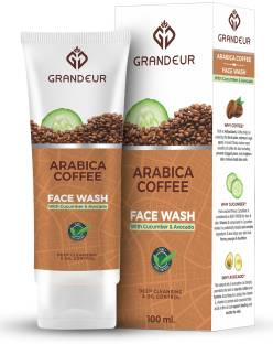 Grandeur Coffee  100ml, With Coffee, Moringa Extract And Wheatgerm Oil For Deep Cleansing, Glowing & Smooth Skin Face Wash