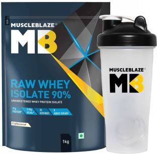 MUSCLEBLAZE Raw Whey Isolate with Shaker Whey Protein