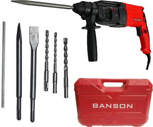 BANSON 26 MM HAMMER/DEMOLITION DRILL MACHINE HEAVY DUTY HIGH CAPACITY 1150 W Rotary Hammer Drill