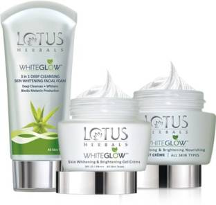 LOTUS HERBALS White Glow Day And Night Pack with free Face wash