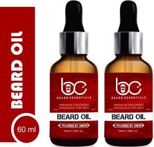 BEARD ESSENTIALS Premium Beard Growth Oil - Enriched with Rose & Sandalwood oil For Fast Beard Growth - 60ml Hair Oil