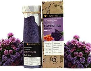 Soulflower Lavender Bath Salt 500g, For Muscle Relief, Exotic & Indulging, Preservatives Free, Soft and Supple skin