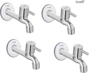 Prestige SS Turbo Long Body With Wall Flange-Pack Of 4 Faucets Bib Tap Faucet