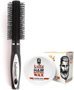 eaglemart Round Hair Brush with Styling Hair Wax