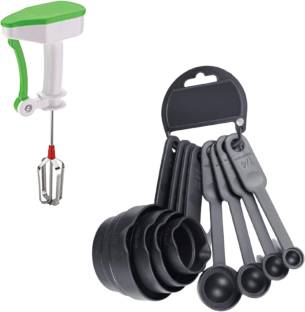 OMORTEX 8 Pcs Measuring Cups And spoon Set and Power Free Stylish Hand Blender Measuring Cup Set