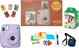 FUJIFILM Instax Mini 11 Bundle Pack (Lilac Purple) with 20 Film shot and Carrying Case Instant Camera