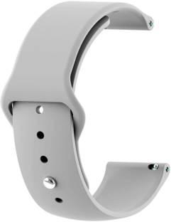 gettechgo Premium Soft Silicone 18mm Bands Strap Compatible with Fossil Q Venture Gen 3 / Q Venture HR Gen 4 / Vivoactive 4S / Vivomove 3S & other watches with 18mm Lugs Smart Watch Strap